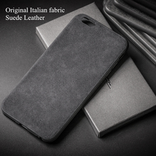 Luxury Case for IPhone 6 6s 7 8 Plus X Italian Fabric Suede Leather Cover Downy Back Luxury Smart Phone Shell Housing for X 10