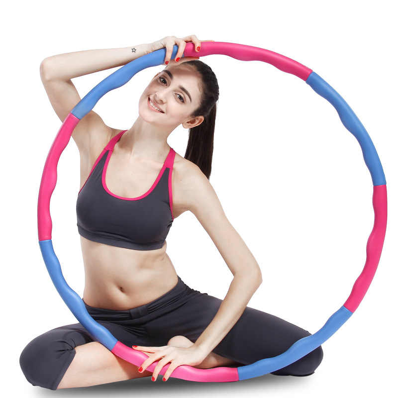 Fitness Hoop Foam Removable Sport Circle trainer Gym hoops for waist slimming Thin waist Fitness Sport Hoop Crossfit Equipment