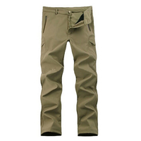 Outdoor Lurker Shark Skin Soft Shell Camouflage Waterproof Mens Pants Khaki 2XL