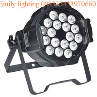 1 unit (1 carton) 18W18pcs RGBWAUV 6in1 led par lighting fixture with zoom for stage Dj clubs party disco KTV bar show studio