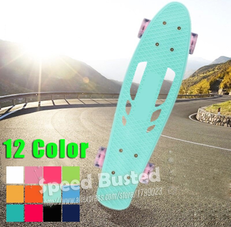 New Peny Board Hollow Skateboard Mini Cruiser longboard for Girl Boy Skate Fish Long Board Pnny nickel Board 22 retro patins