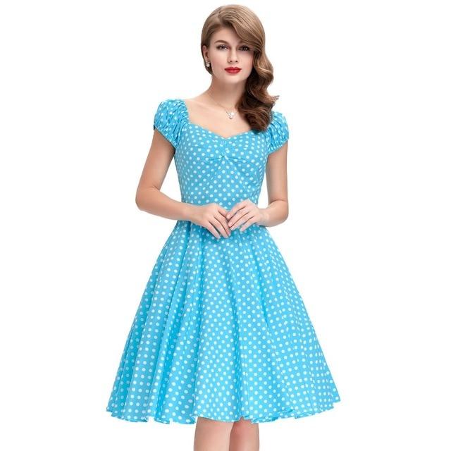 Aliexpress.com : Buy 1950s 60s Hepburn Style Women Dress Pinup ...