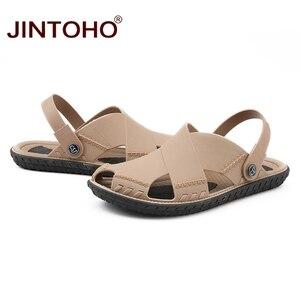 Image 2 - JINTOHO letnie męskie sandały moda lato plaża buty sandały plażowe na świeżym powietrzu mężczyzna sandały 2019 Sandalias męskie