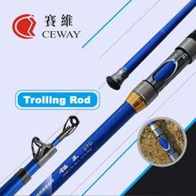 Carbon Boat Fishing Rod Telescopic Trolling Rods Ultra Hard Troll Jigging Pole Fish Tackle Poles 2.7m 3m 3.6m 3.9m FREE SHIPPING