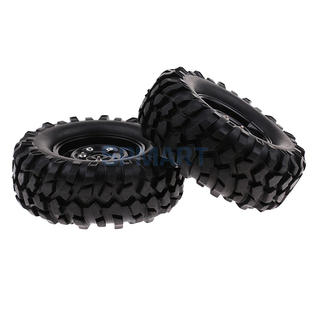 1 Pair 96mm Wheels Tyres Tires for 1/10 RC Rock Crawler Car Truck RC4WD SCX10 D90 CC01