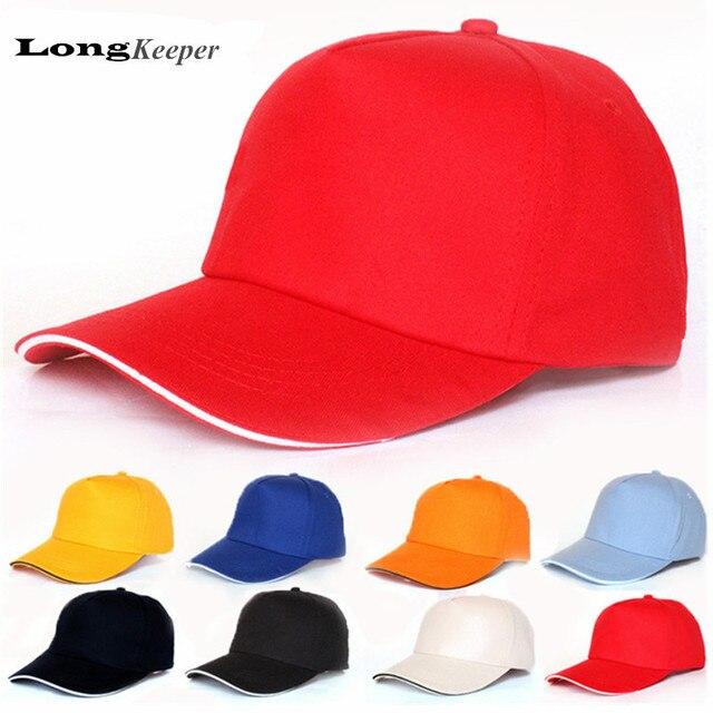 LongKeeper Grife Bonés de Beisebol Tampão de Golfe do Algodão Sports  Snapback Caps Em Branco   4d3d8d8e539