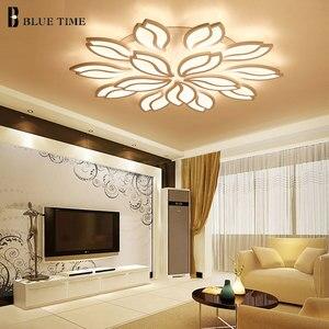 Image 2 - シンプルでモダンな Led シャンデリアリビングルームベッドルームダイニングルームのためルームランプ Lustres LED 天井シャンデリア照明器具照明器具