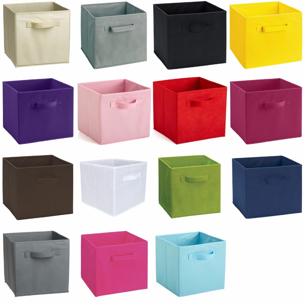 6PCS Foldable Storage Collapsible Box Home Clothes Holder Non-woven Fabric Cube
