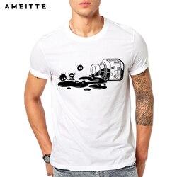 Ameitte 2019 criativo tinta sprites camiseta estilo geek dos homens de verão o pescoço manga curta hipster topos t