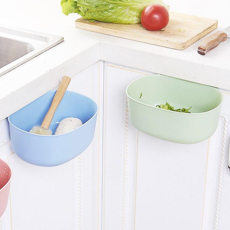 Kitchen Cupboard Door Hanging Garbage Cans Desktop Rubbish Organize Container Debris Trash Bins Storage Box C0