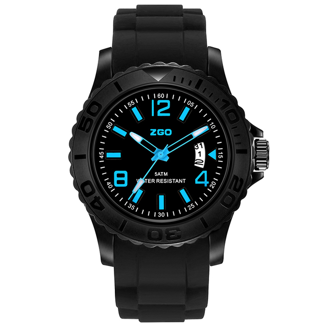 ZGO Children Watch Fashion Casual Silicone Watches Quartz watches Waterproof Kids Clock boys Hours girls Students Wristwatch