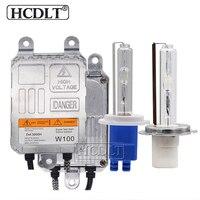 HCDLT 100 Вт ксеноновая H7 HID комплект H1 H3 HB3 HB4 H11 ксеноновая лампа 4300 K 8000 K 6000 K 100 W HID балласт 12 V 24 V комплект фар автомобиля