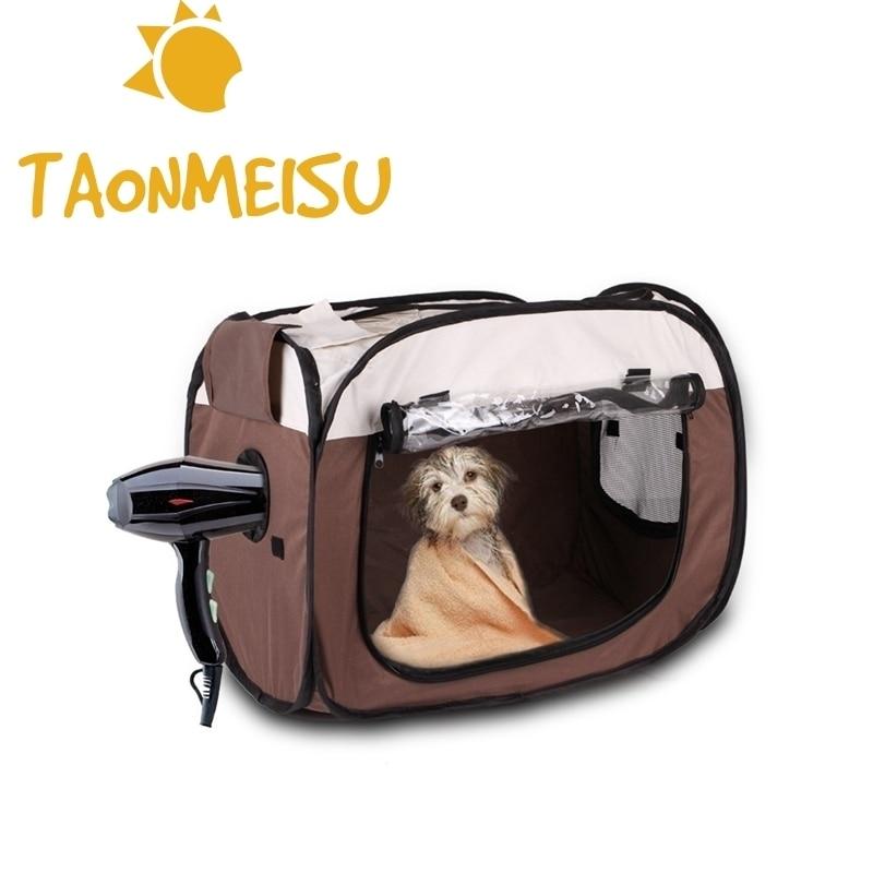Pet Dog Carrier Fur Drying Box Portable Car Seat Waterproof Shoulder Bag Backpack Outside Bathing Helper Foldable Pet Drying Box