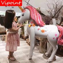 VIPOINT PARTY 42x46inch rainbow purple pink unicorn foil ballon wedding event christmas halloween festival birthday party PD-98