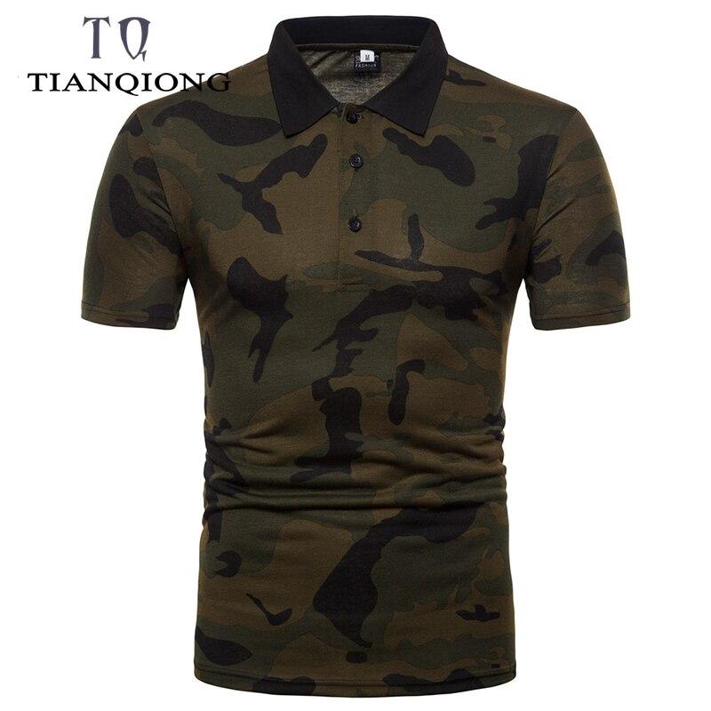 2019 Mode Neue Sommer Camouflage Herren Polo-shirt Im Freien Sport Kurzarm Männer Slim Fit Polo-shirt