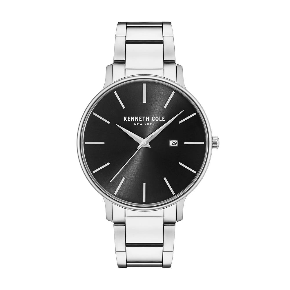 a00b8689dd6 Kenneth Cole Mens Relógios de Quartzo relógio de Prata Pulseira de ...