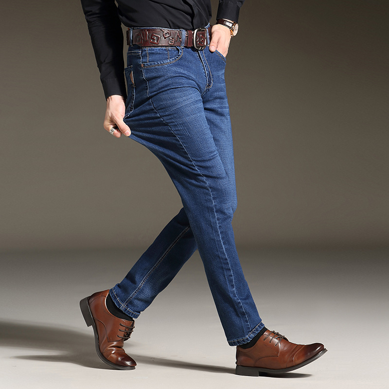 2019 New Denim Skinny Denim Jeans Menslim Fit Classic Jeans Men High Quality Trousers Soft Mens Pants Men's Large Size 40 42