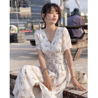 MISHOW Floral Printed Dress For Women Beach Boho Dress Split Hem Summer 2019 Elegant Long Dress Girls Clothes MX19B1381