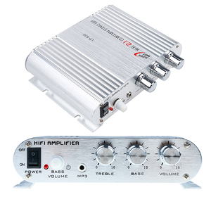 Image 2 - Car 3 Channel Amplifier Stereo Mega Bass LP 838 12V 300W Hi Fi Connect With Phone PC DVD Player MP3 MP4 Portable Subwoofer