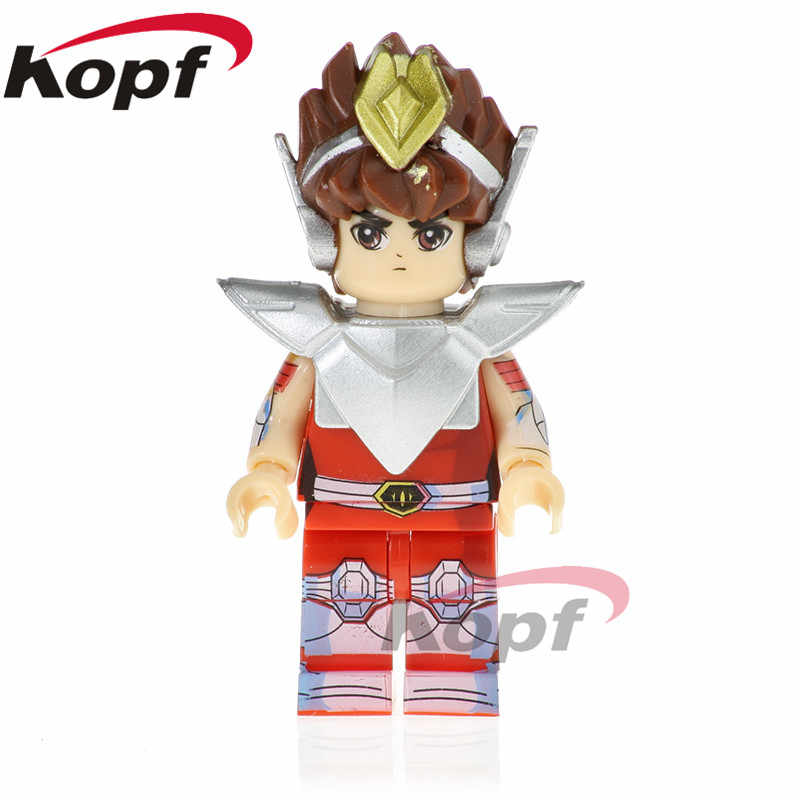 Single Sale Super Heroes Knights of the Zodiac Pegasus Athena Shiryu Dragon Saint Seiya Building Blocks Toys for children PG1151