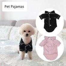Small Dog Apparel Coat Pet Puppy Pajamas Black Pink Girls Poodle Bichon Teddy Clothes Christmas Cotton Bulldog Softfeeling Shirt