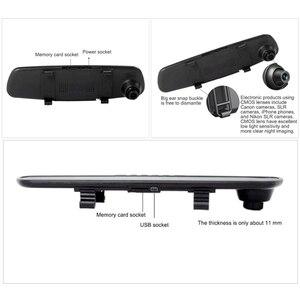 Image 4 - كامل HD 1080P جهاز تسجيل فيديو رقمي للسيارات كاميرا مرآة لسيارات الدفع الرباعي 120 درجة السيارات مسجل قيادة السيارة كاميرا مركبة داش كاميرا سيارة كاميرا مرآة
