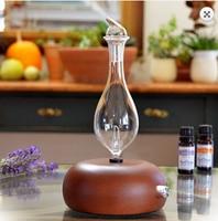 Pippa - Nebulizing aroma diffuser, Negative Ion scent diffuser, Glass nebulizerm, Wood Aromatherapy Diffuser,