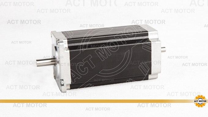 ACT Motor 1PC Nema23 Stepper Motor 23HS2430B Dual Shaft 4-Lead 425oz-in 112mm 3.0A Bipolar 8mm-Diameter CE ISO ROHS Laser Cut