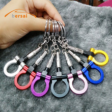 High quality Metal Trailer hook Car keychain key ring For Ford mustang Mitsubishi Honda mazda Hyundai Key ring Auto Accessories цена