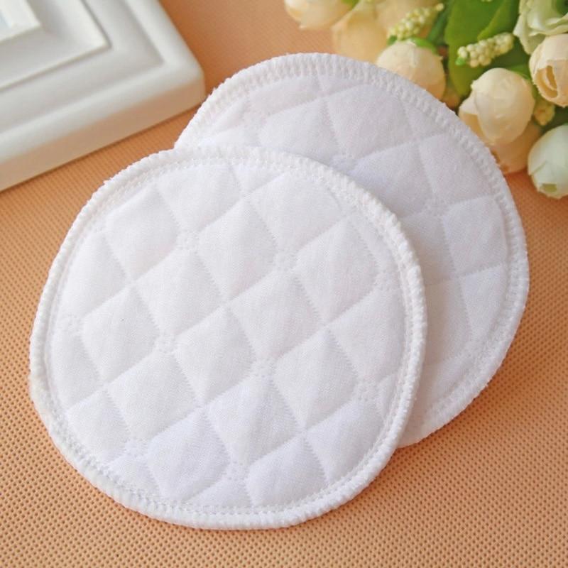 Coussinets d'allaitement réutilisables en coton allaitement imperméable à l'eau organique plaine lavable coussin bébé allaitement accessoire soins post-partum