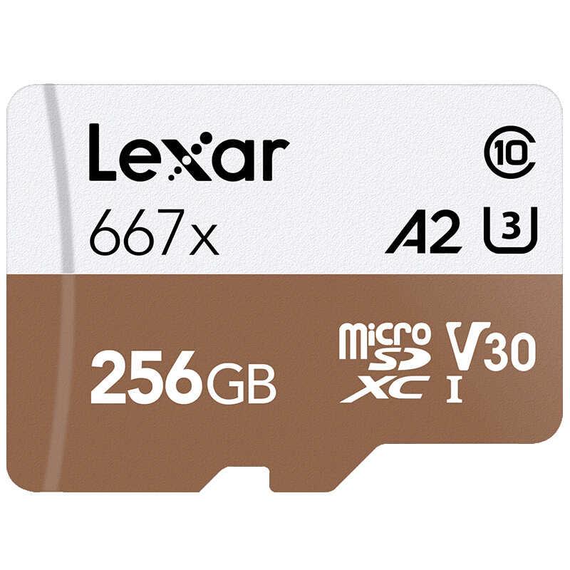 Thẻ nhớ Lexar Tarjeta Ban Đầu 667X Micro SDXC UHS-I 128 GB con adaptador 64 GB 256GB A2 U3 V30 Clase 10 HD 1080 P 4 K 3D de vídeo