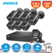 ANNKE HD 720P 16CH CCTV System Set 5 IN1 DVR 8pcs 1500TVL IR Outdoor Waterproof Security Camera 16CH Video CCTV Surveillance kit