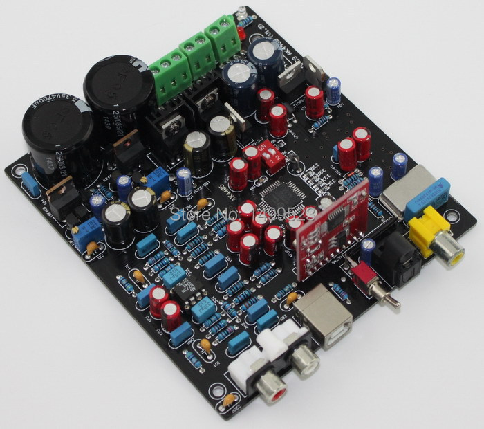 Assembled AK4495SEQ+WM8805+PCM2706+AD827 DAC Fiber Coaxial USB decoder board все цены