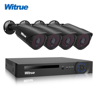 Witrue 8CH Surveillance System 1080P AHD DVR 4pcs 2 0MP Sony IMX323 Security Camera Outdoor Waterproof