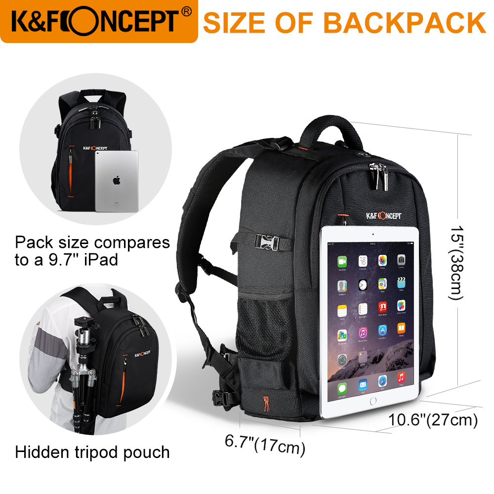 3ea2383a55 Αξεσουάρ   Ανταλλακτικά K F CONCEPT Large Capacity Waterproof Camera  Backpack Photo Video Laptop Bag Lens Case DSLR Bags Travel Knapsack For  Canon Nikon