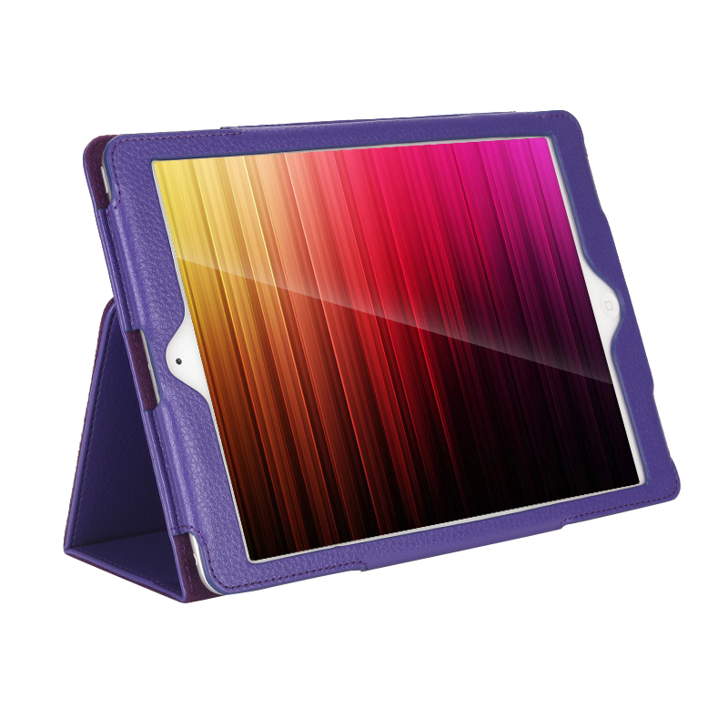Business Flip Litchi Leather Case Smart Stand Holder For Apple ipad2 3 4 Magnetic Auto Wake Up Sleep Cover Purple for ipad pro case 12 9 9 7 auto sleep wake up magnetic smart stand flip leather hand hold tablet cover