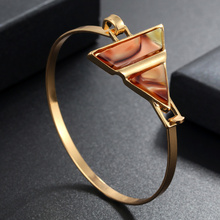 Fashion Cuff Bracelets & Bangles For Women Men Gold Alloy Male Female Acetic Geometric Bangles Bracelet Fashion Jewelry недорого