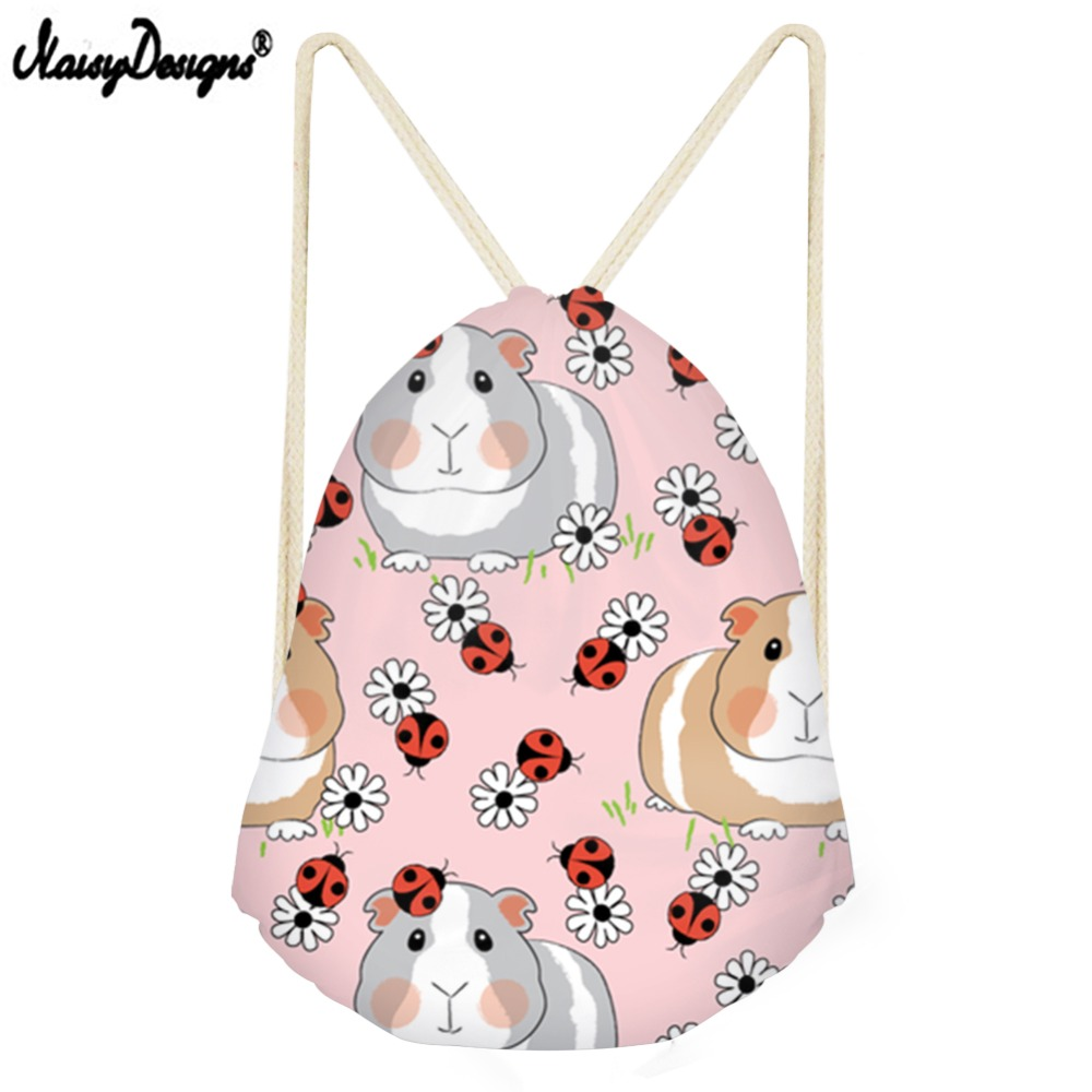 Noisydesigns New Drawstring Bag Children Backpacks For Teenager Girls Small Storage Bags Daily Backpack Mochila Drop Shipping