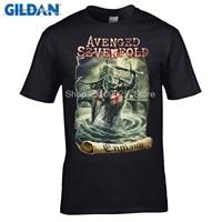 GILDAN Fashion Brand T Shirt Avenged Sevenfold England New Graphic A7X Band Metal Rock Men S