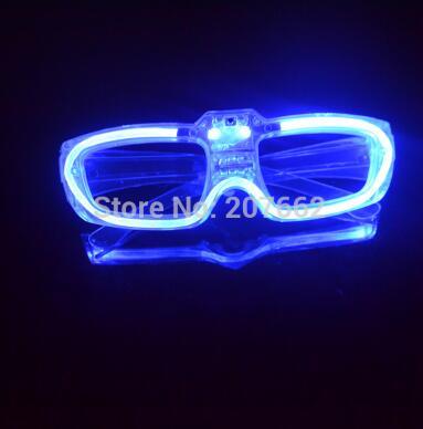 Мигающие очки светодиодный светящиеся вечерние светящиеся принадлежности освещение новинка подарок яркий свет фестиваль вечерние светящиеся очки - Цвет: blue
