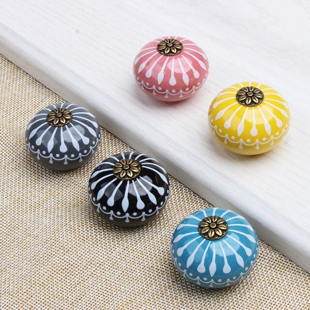 5 Farben Keramik Türgriff Schwarz/Grau/Gelb/Rosa/Blau Schrank ...