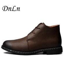 Размеры 39–44 Западной Стиль Винтаж ковбойские ботинки Сумасшедший Пояса из натуральной кожи Для мужчин рабочие ботинки водонепроницаемые осенние ботинки теплые ботильоны