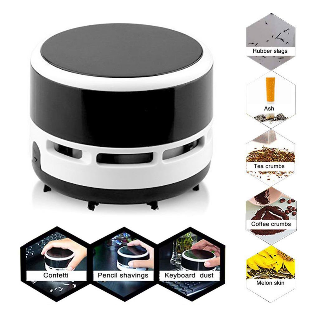 Portable Mini Desktop Table Vacuum Cleaner Dust Collector Keyboard Dust Vacuum Cleaner For Home Office Cleaning Brushes in Cleaning Brushes from Home Garden