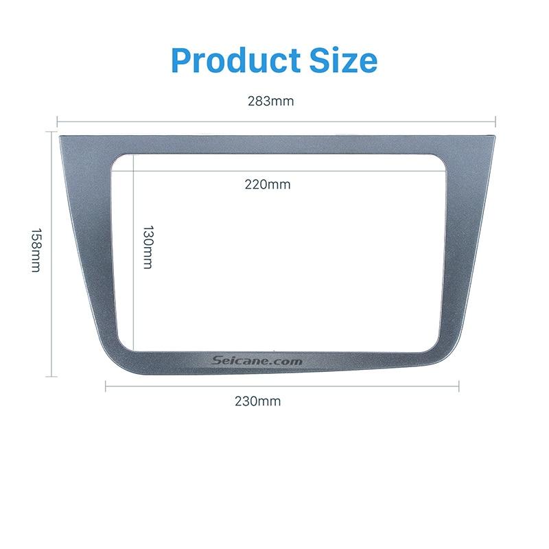 Seicane 2Din Car Radio Fascia Frame Stereo Install Dashboard Trim Mount Kit for 2004+ SEAT ALTEA RHD Frame Panel Installation