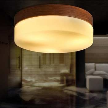Modern Living room Ceiling Lamp Loft Solid Wood Grain Led Ceiling Light Fixtures Bedroom Kitchen Aisle Light Surface Mount