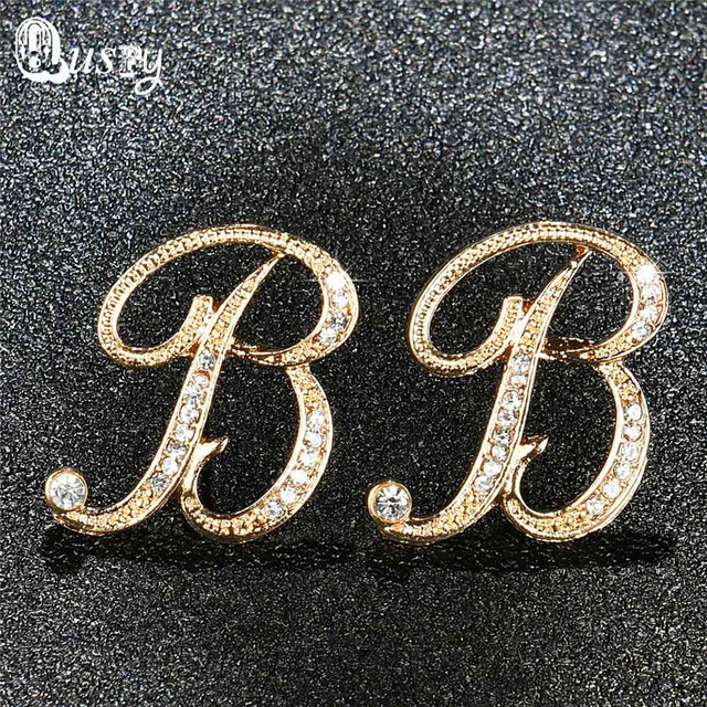 from newest with luxury woaman brand product earrings mk logo letter cheap stud earring m round famous diamonds big studded series