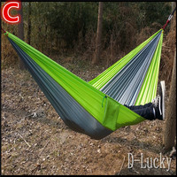 Top Quality Multi color in options Double Person Assorted Color Portable Parachute Nylon Fabric Hammock for Indoor Outdoor Use