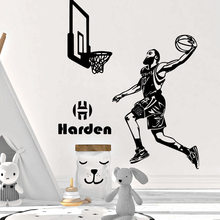Luxuriant Harden houston rockets Wall Sticker Mural Art Home Decor For Living Room Bedroom Wall Stickers Waterproof Wallpaper(China)
