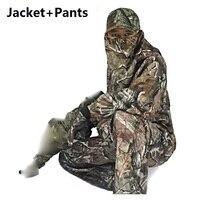 Resistente al agua transpirable camuflaje biónico Trajes al aire libre Caza táctico CAMO chaqueta Pantalones bosque Caza Trajes