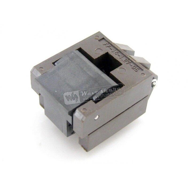 Enplas IC Test Burn in Socket for SOP16 SO16 SOIC16 package Pitch 1 27mm Width 3